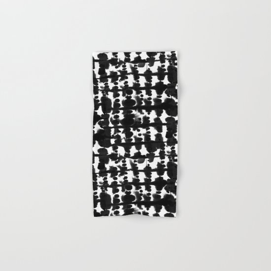 Parallel Black and White Hand & Bath Towel