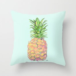 Mint Brite Pineapple Throw Pillow