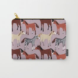 Palomino Horse with pattern in pink Carry-All Pouch