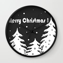 Merry Christmas ! Wall Clock