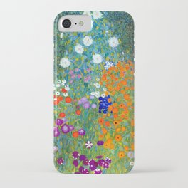Gustav Klimt Flower Garden iPhone Case