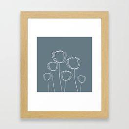 Simple Poppy Framed Art Print