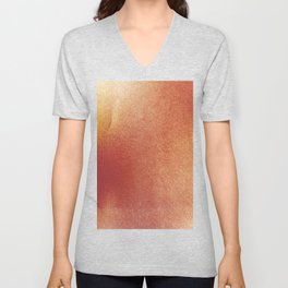 Textured Red and Yellow Fall Leaf Unisex V-Neck