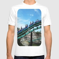 Rollercoaster Mens Fitted Tee White MEDIUM