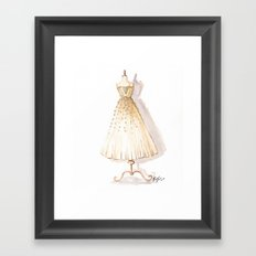 Glow and Cream Watercolor Gown Framed Art Print