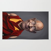 lama Area & Throw Rugs featuring Celebrity Sunday ~ Dalai Lama by rob art | illustration
