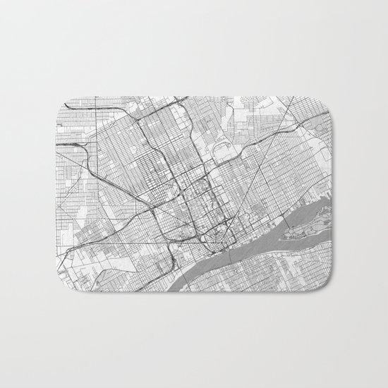 Detroit Map Line Bath Mat