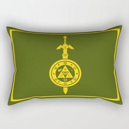 Zelda Shield Triforce Rectangular Pillow