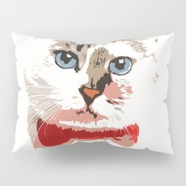 Cat in red bow tie Pillow Sham