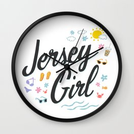 Jersey Girl Wall Clock