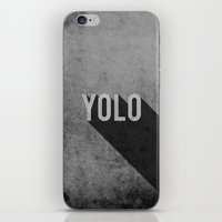 yolo iPhone & iPod Skins featuring YOLO by Barbo's Art