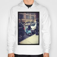 vespa Hoodies featuring Vespa by Alissa Fleck