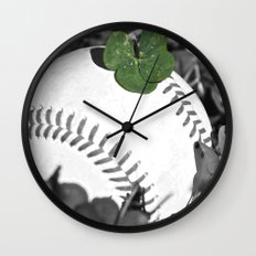 baseball lucky Wall Clock