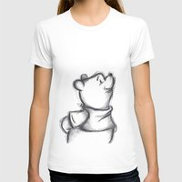 pooh T-shirts featuring Insightful Pooh by Makayla Wilkerson