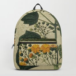 """Bouquet of vintage wild flowers"" Backpack"