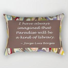 Paradise - The Library Rectangular Pillow