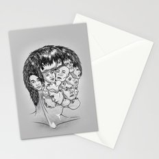 Face Lock BW Stationery Cards