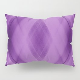 Wicker triangular strokes of intersecting sharp lines with amethyst triangles and stripes. Pillow Sham