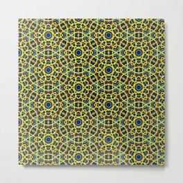 Beautiful Yellow Blue and Orange Beaded Art Print Metal Print