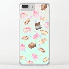 Pastel Desserts Clear iPhone Case