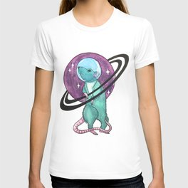 watercolor rat \ mouse - the astronaut T-shirt