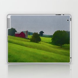 Pure Country Red Barn Art Poster Laptop & iPad Skin