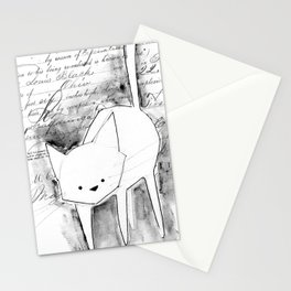 minima - deco cat Stationery Cards