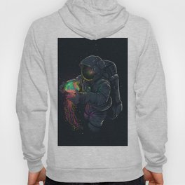 astronaut jellyfish space digital art Hoody