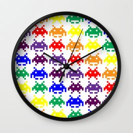 Rainbow Invasion Wall Clock