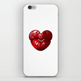 Heart Shaped Lips iPhone Skin