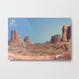 Western Desert Metal Print
