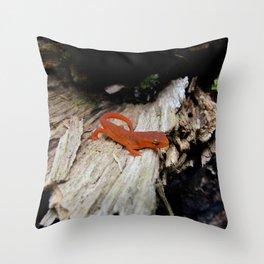 Red Newt Throw Pillow