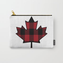 Plaid Maple Leaf Carry-All Pouch