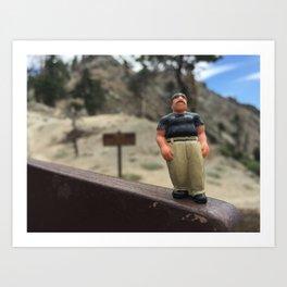 Homies Hike Art Print