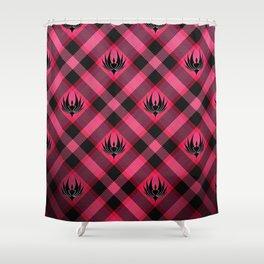 Galactica Plaid Shower Curtain