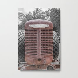 McCormick-Deering Rusted Grill Rusty Farmall Tractor Front End Metal Print
