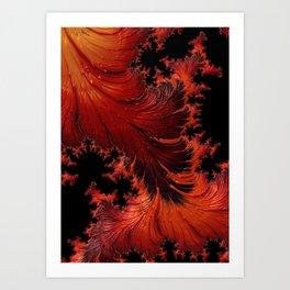 Hot Fractal Art Print