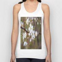 cherry blossom Tank Tops featuring Cherry Blossom by Kristina Haritonova