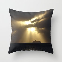 Sunset in Grand Cayman Throw Pillow