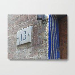 13 - Blue Starry Night Door Metal Print