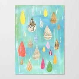 Pale Raindrops Canvas Print