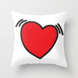 Beating heart Throw Pillow