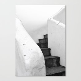 Black and White Stairs Canvas Print