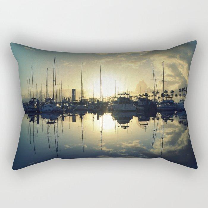 marina morning Rectangular Pillow