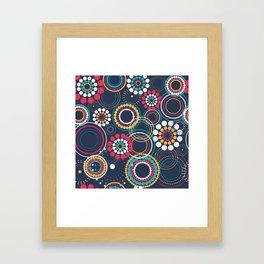 Flowers of Circles Framed Art Print