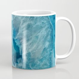 Teal Druzy Agate Quartz Coffee Mug