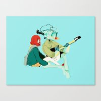 flcl Canvas Prints featuring flcl by Lindsay Pak