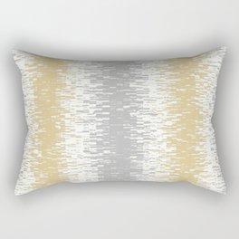 grey gold white design  Rectangular Pillow
