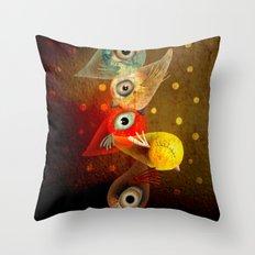 Lighting Birds Whimsical Art Throw Pillow