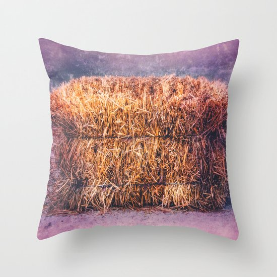A TWIST ON HAY Throw Pillow